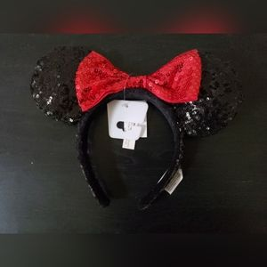 Sequined Minnie Mouse Ears